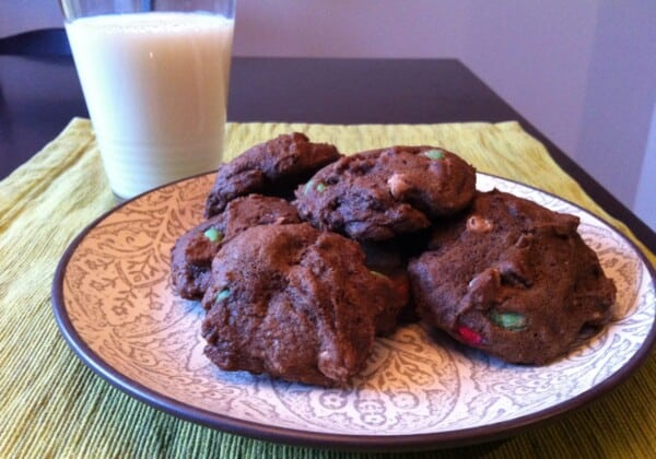Double Chocolate Holiday Cookies