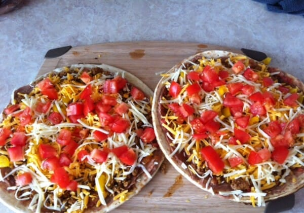 Quick And Easy Turkey Taco Pizza