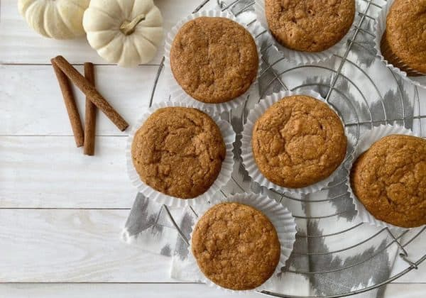 Easy Wholegrain Pumpkin Spice Muffins