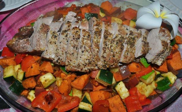 souvlaki style pork tenderloin
