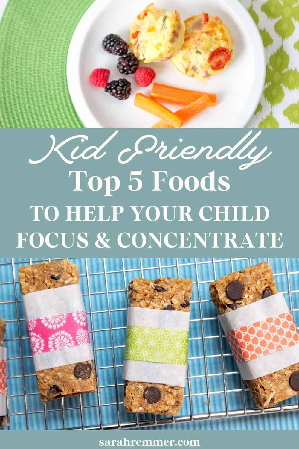 Top 5 Foods to Help your Child Concentrate