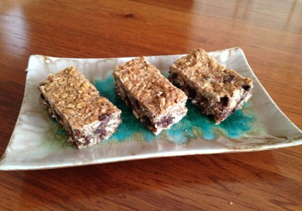 Sweet and Salty Chocolate Lentil Granola Bars