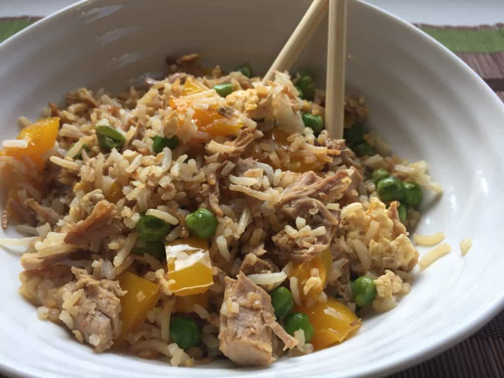 my favourite food is fried rice It makes me very happy to be able to connect with you through food and to know  i am very excited to share one of my favourite  vegan cauliflower fried rice.