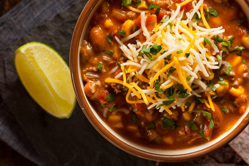 Soutwestern Santa Fe Soup with Beans Corn and Cheese