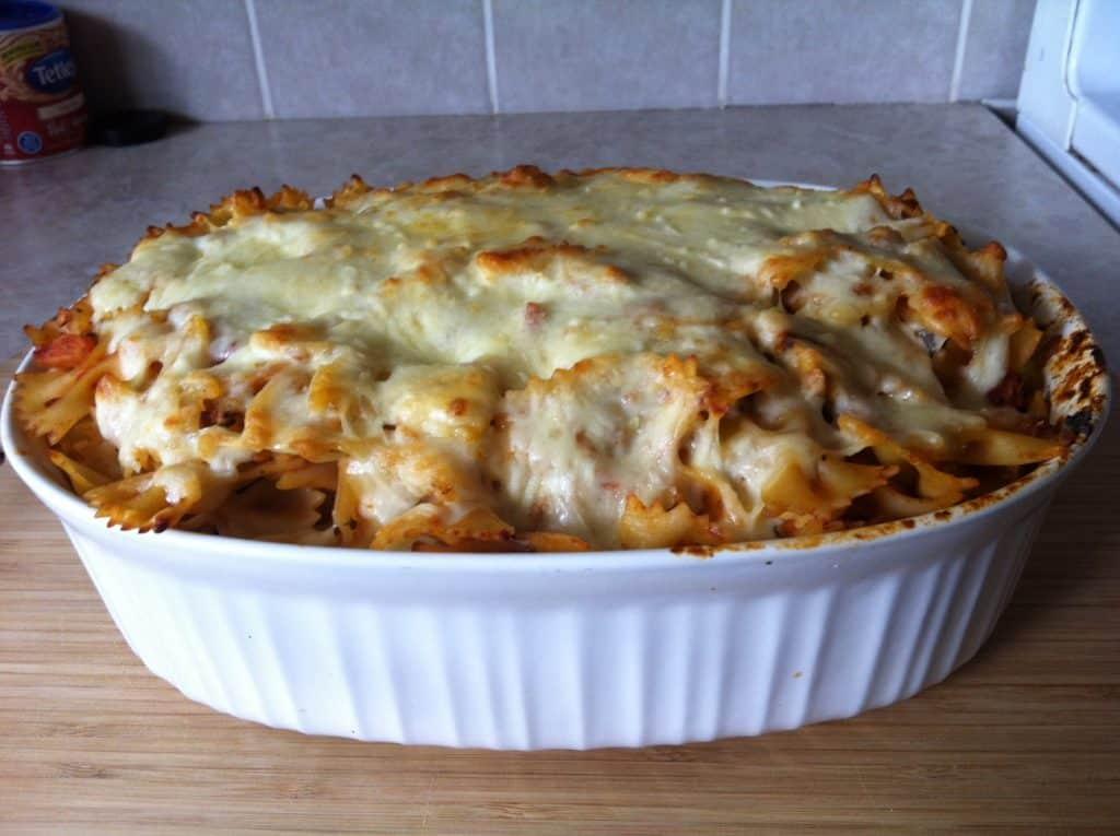 turkey-tomato-pasta-bake