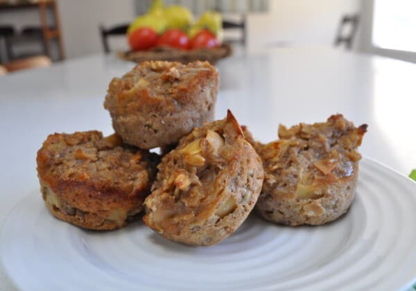 Flourless Oatmeal Apple Muffins