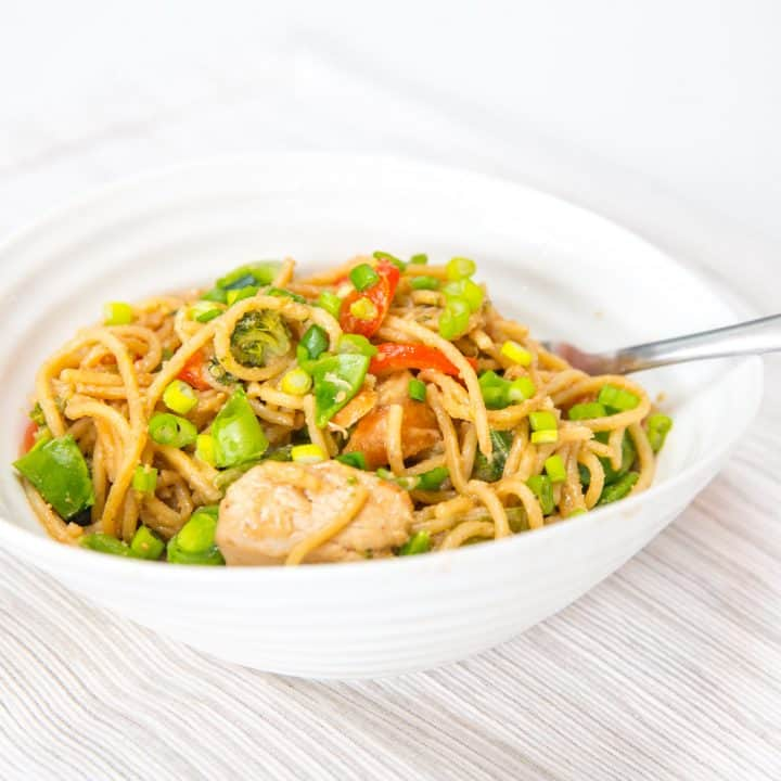 Weeknight One-Pot Thai Peanut Noodles