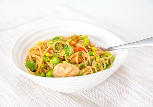 Weeknight, One-Pan Thai Peanut Noodles