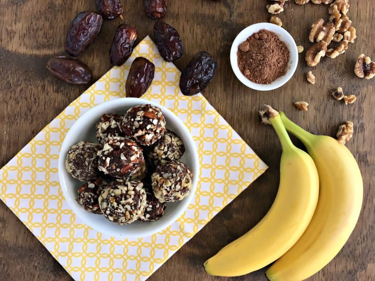 chocolate banana energy balls recipes for kids