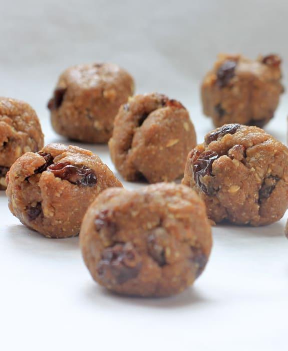 oatmeal cinnamon raisin maple pecan cookie energy balls recipes for kids