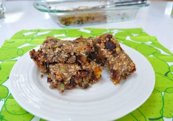 lunchbox granola bars with plenty of seeds and dried fruit