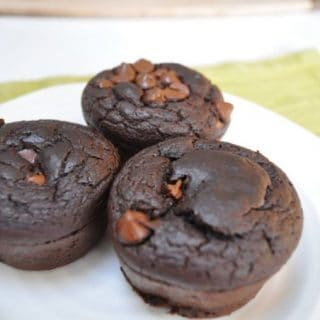 Flourless Chocolate Lentil Protein Muffins