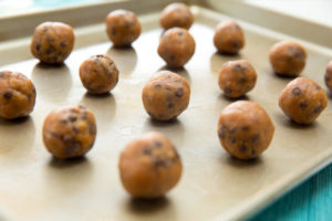 Peanut Butter Chocolate Chip Cookie Dough Protein Balls