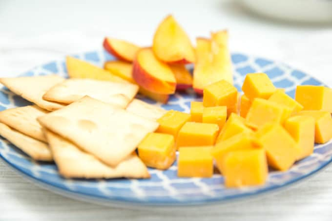 plate of cheese and crackers