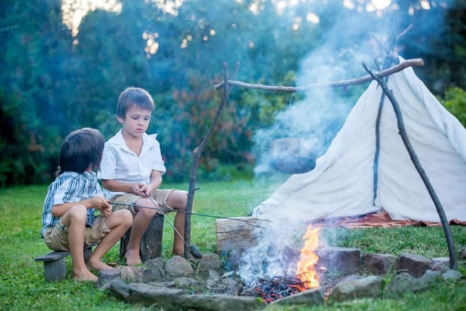 camping trips with kids