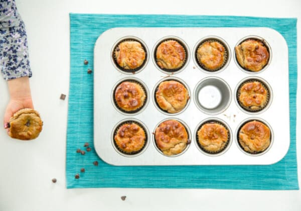 Flourless Peanut Butter, Banana Chocolate Chip Muffin Recipe