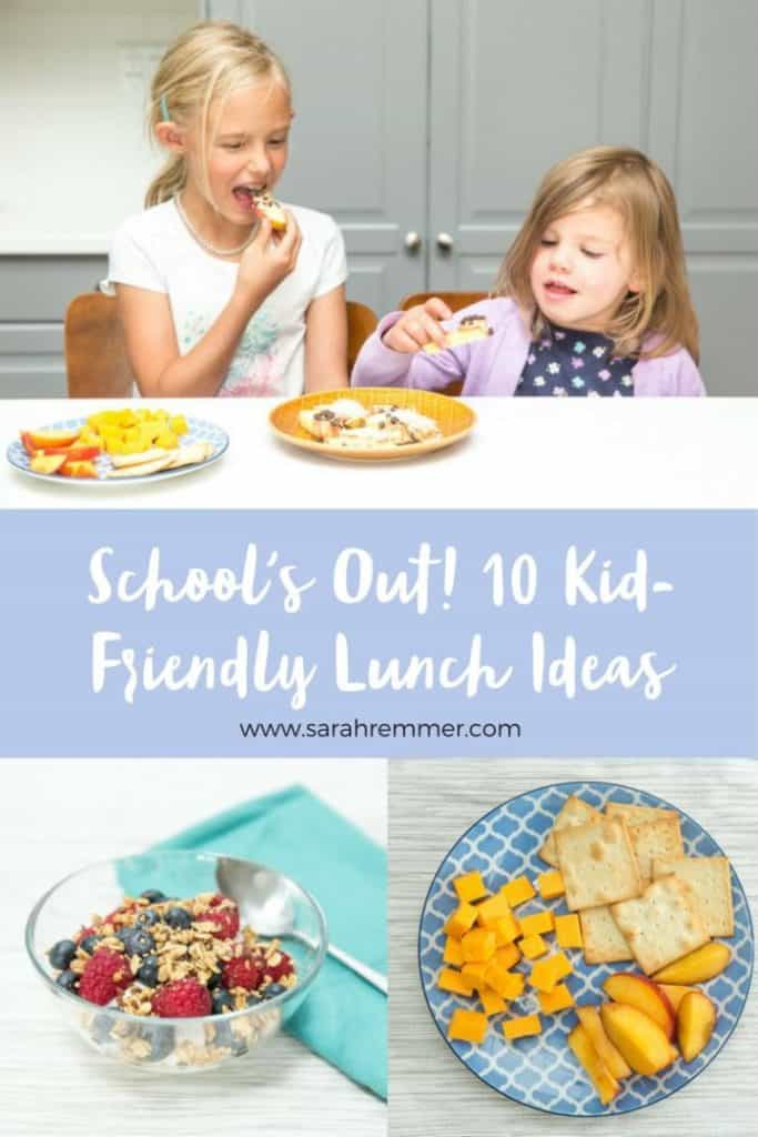 Kid-Friendly Lunch Ideas When it comes to lunch, don't phone it in every afternoon with a cheese sandwich. We've got a variety of fast and nutritious lunch recipes that work equally well to send off to school or enjoy at home together.