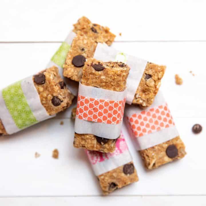 sweet and salty lentil granola bars