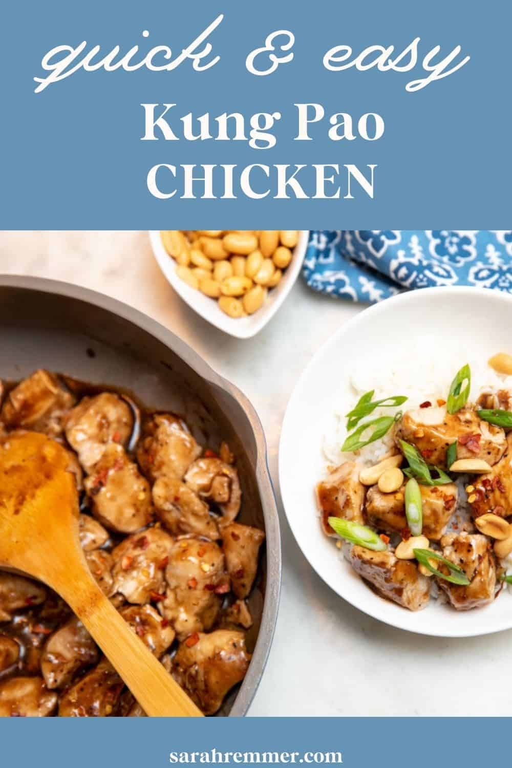Don't bother ordering in, this Kung Pao chicken recipe is delicious, quick, easy and healthy. Can't beat that!