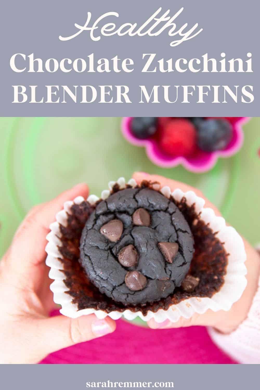 Healthy Chocolate Zucchini Blender Muffins