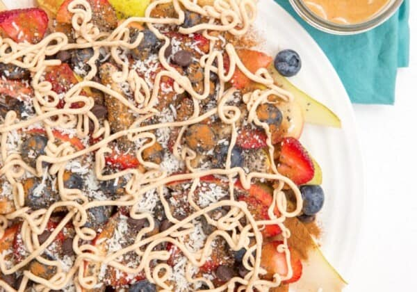 "Chia Fruit Nachos Recipe (and the importance of snacks with ""staying power"")"