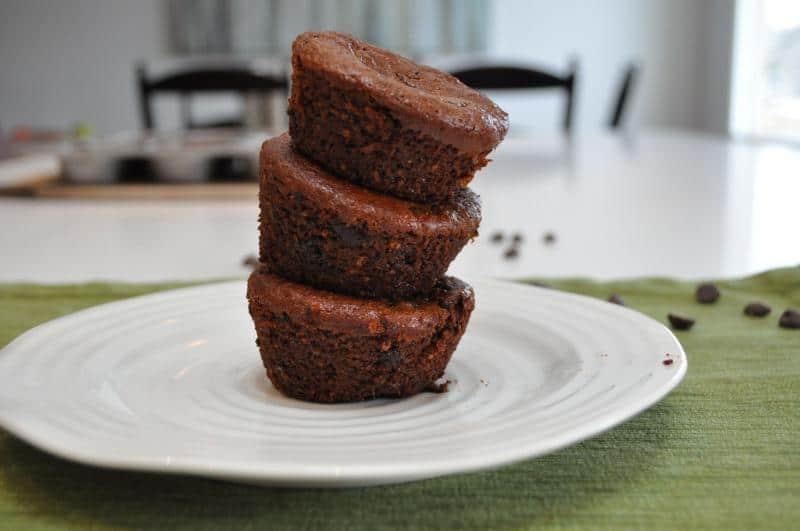 chocolate lentil muffins