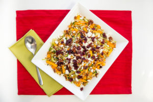 Easy Warm Butternut Squash, Lentil and Cranberry Salad