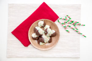 Chewy Chocolate Candy Cane Dipped Cookies