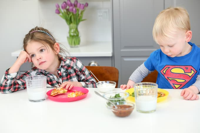 small child not showing interest in food