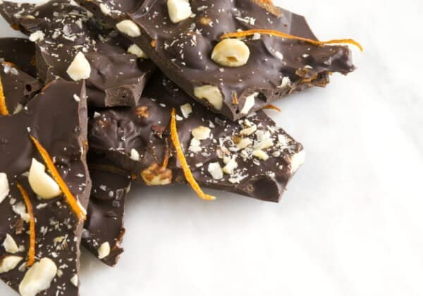 Sea Salt Sprinkled Dark Chocolate Bark