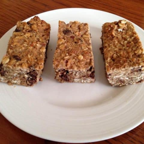 Sweet and Salty Chocolate Chip Lentil Granola Bars