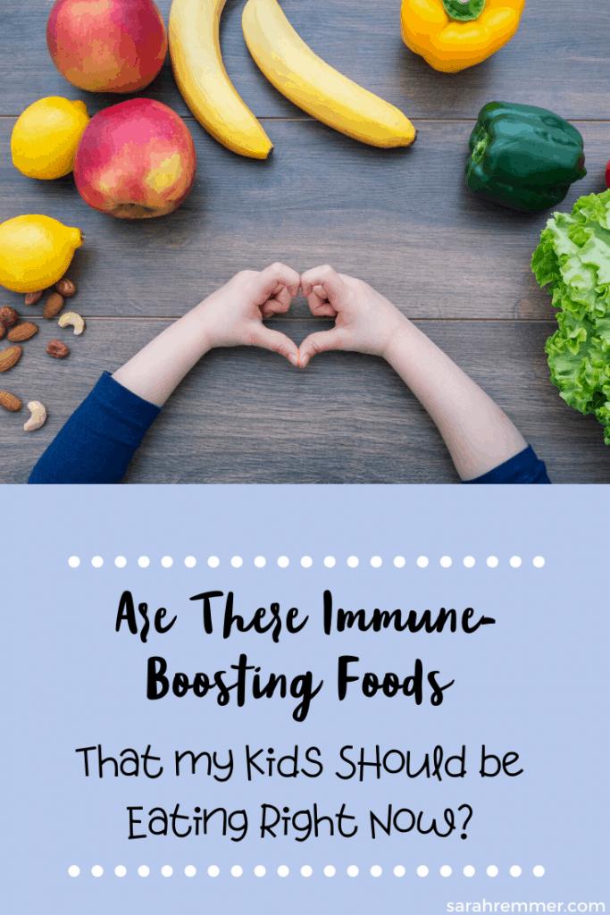 pinterest pin for immune boosting foods for kids