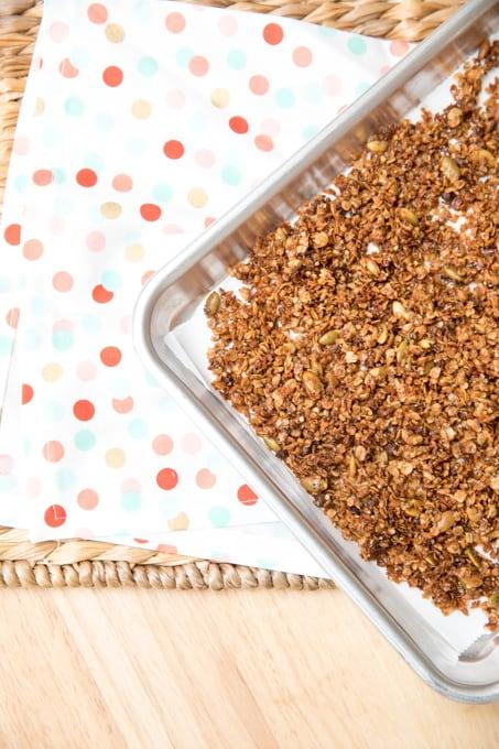 Peanut butter granola homemade
