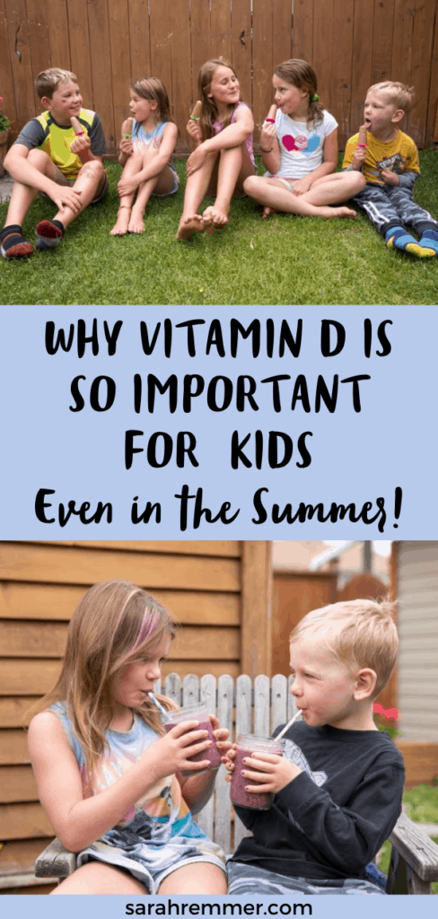 Do kids need a daily vitamin D supplement? How much should they take? When should they take vitamin D? All of your vitamin D questions are answered plus guidelines on how much vitamin D babies and toddlers need! #vitaminD #vitamins #sunshinevitamin #supplements