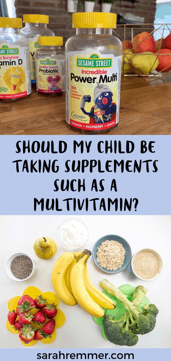 Pinterest pin for this blog post titled should my child be taking supplements such as multivitamins