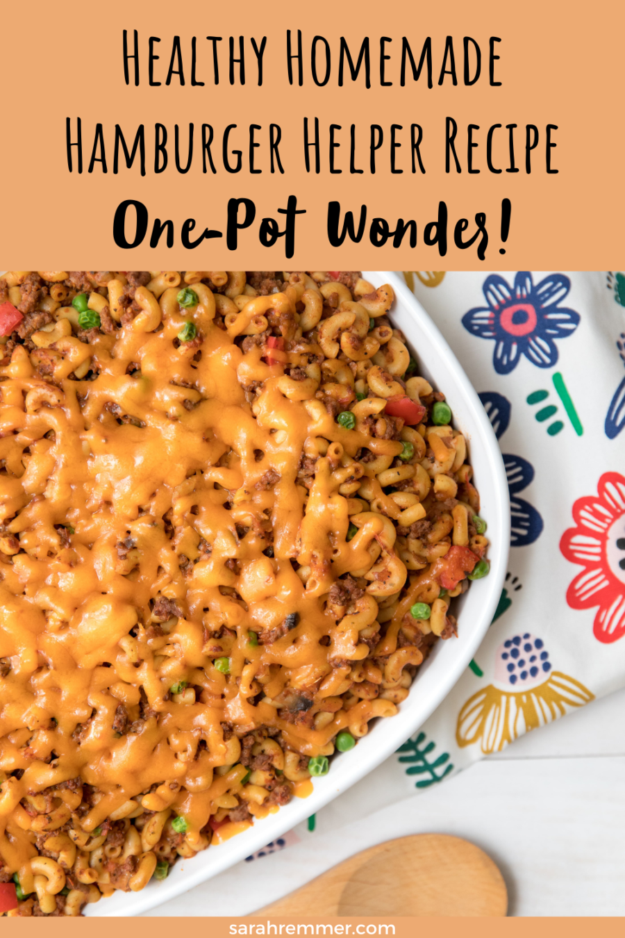 pinterest pin for healthy hamburger helper