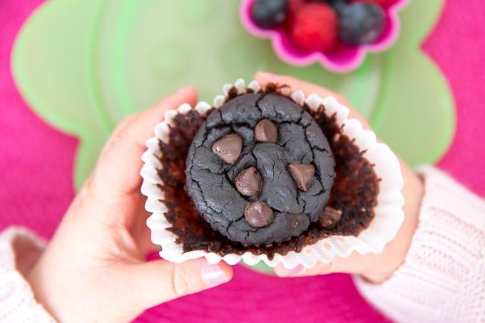 flourless lentil protein muffins