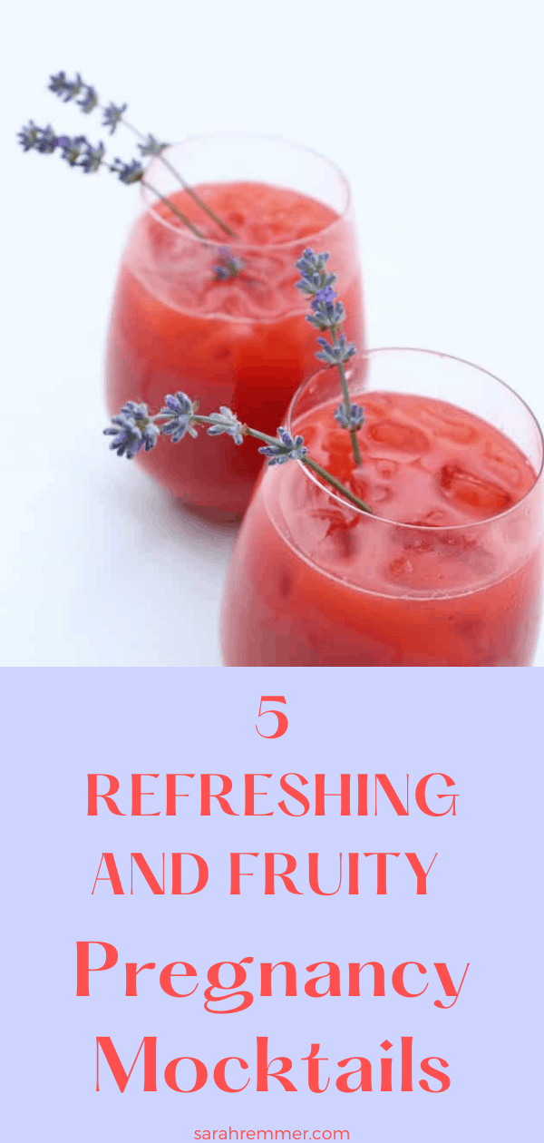 pinterest pin for 5 refreshing and fruity pregnancy mocktails