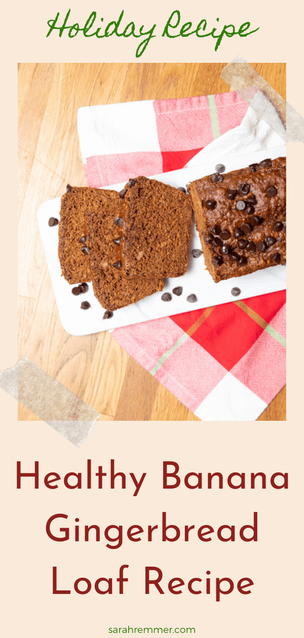 This delicious and surprisingly nutritious Banana Gingerbread Loaf will be a new holiday favourite in your house (and your kids will devour it too!). It's soft, moist and has the perfect combo of sweet and spicy.