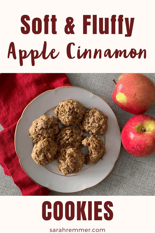 Fluffy apple cinnamon cookies
