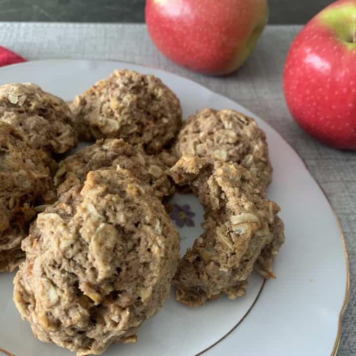 soft and fluffy apple cookies