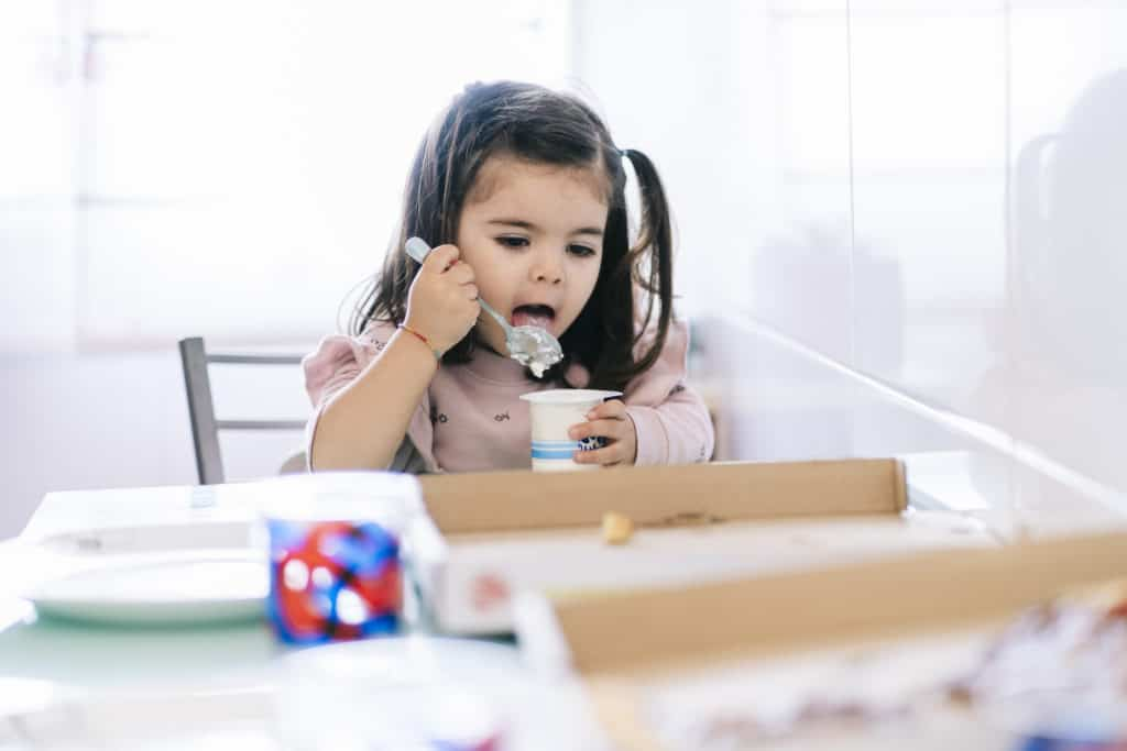 girl eating a snack