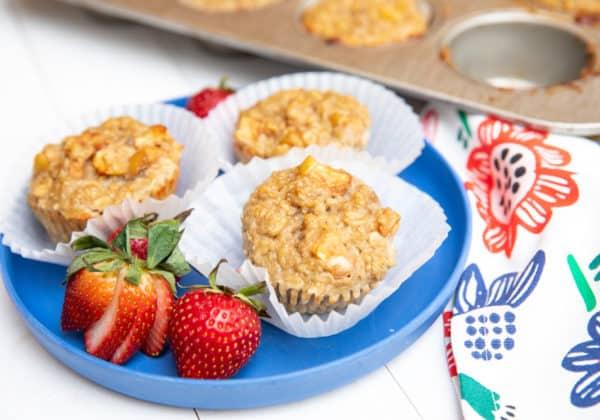 Flourless Oatmeal Apple Muffins