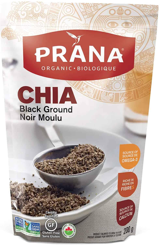 Prana Ground Organic Black Chia Seeds
