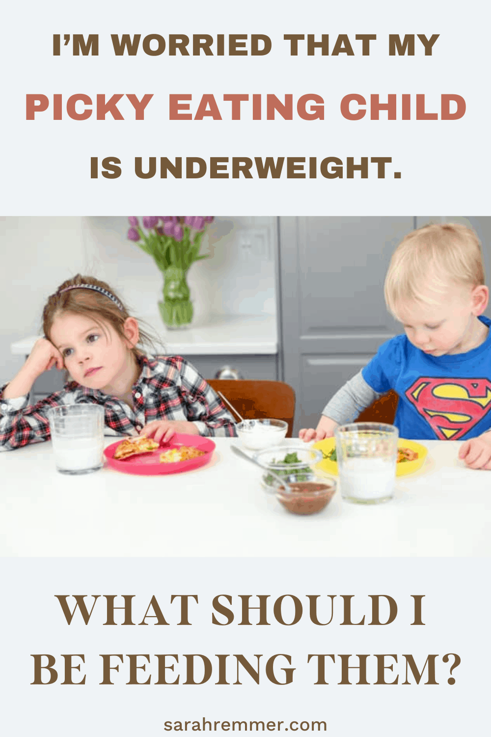 pinterest pin for picky eating child is underweight