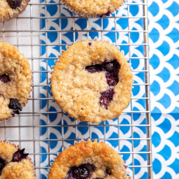 gluten free blueberry lemon muffins