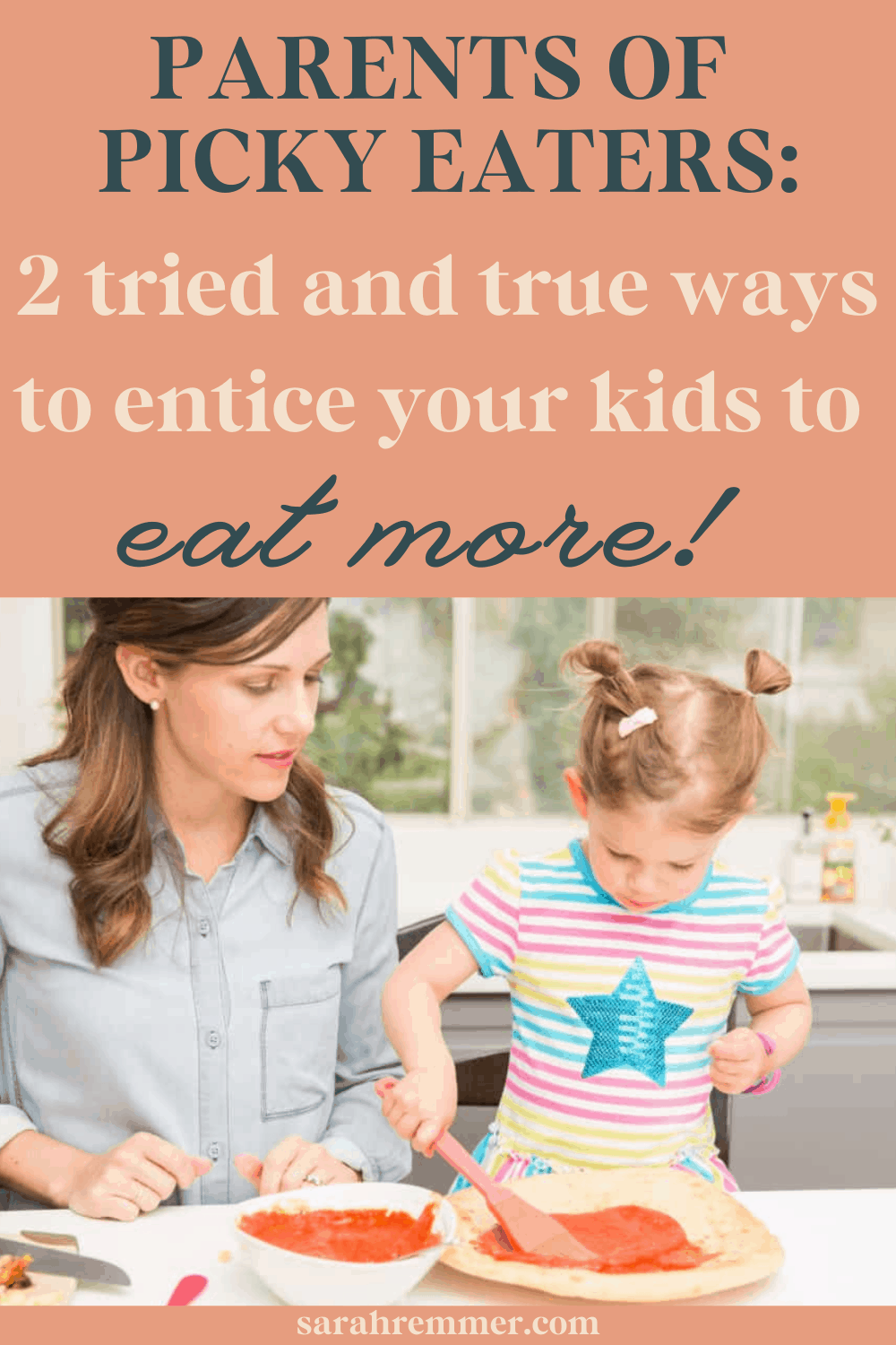 Feeding kids is a tough gig! A meal that is happily gobbled up one day could be completely rejected the next! For all parents of picky eaters, here are two tried and true ways to entice your kids to eat more.