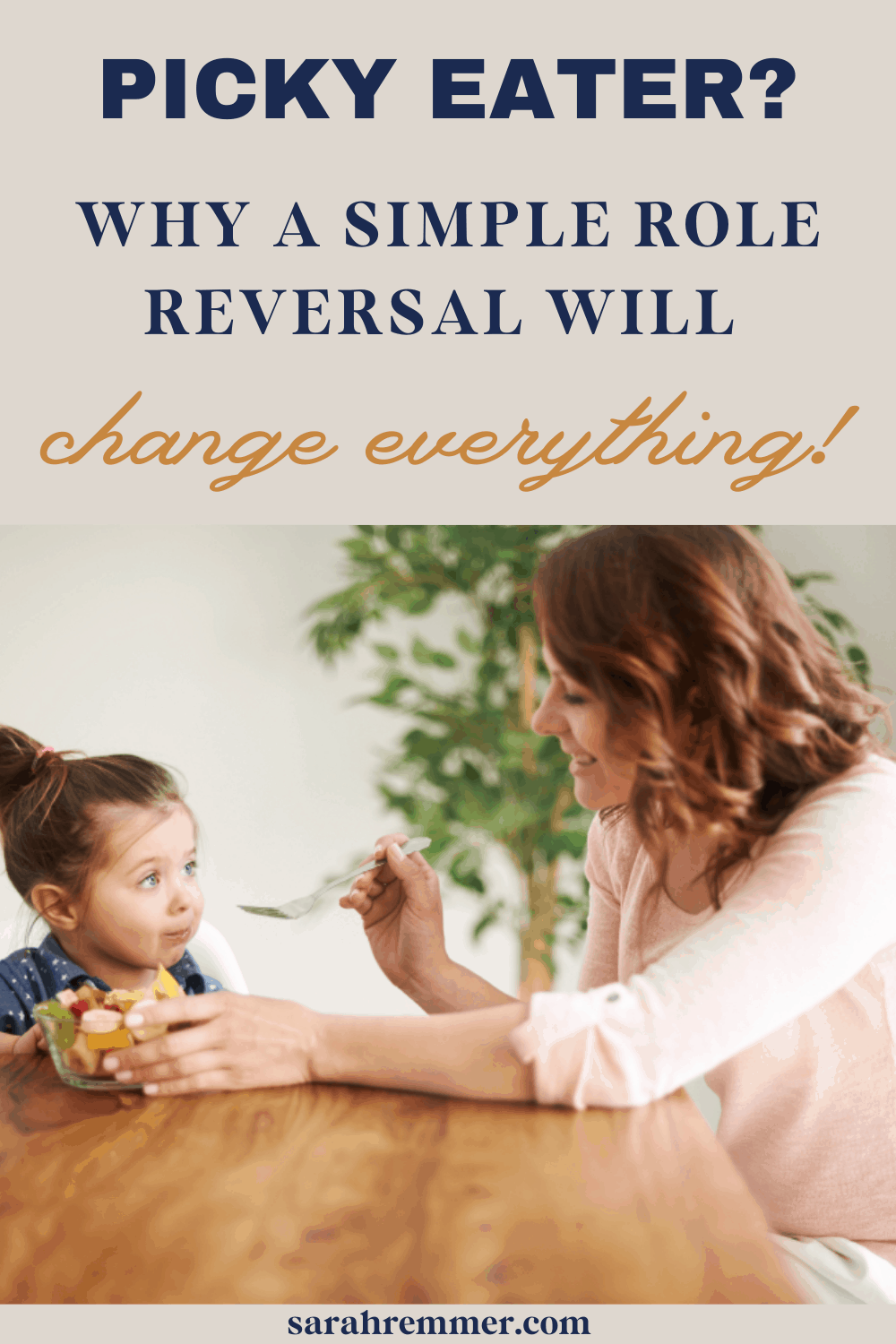 """Many parents understand the worry and frustration of """"picky eaters"""", and feel their mealtimes are out of control with their kids orchestrating meals! Here is why a simple role reversal change everything."""