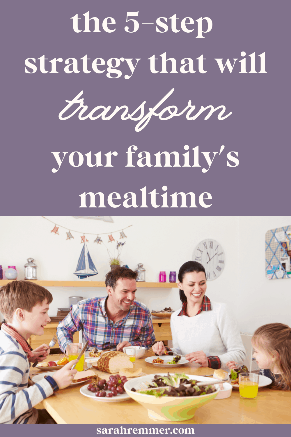 pinterest pin for 5-step strategy to transform family meals
