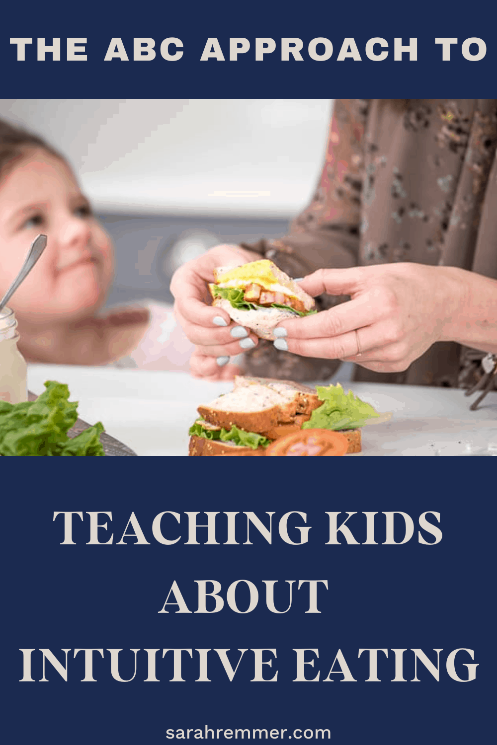 pinterest pin for feeding kids and teaching them about intuitive eating